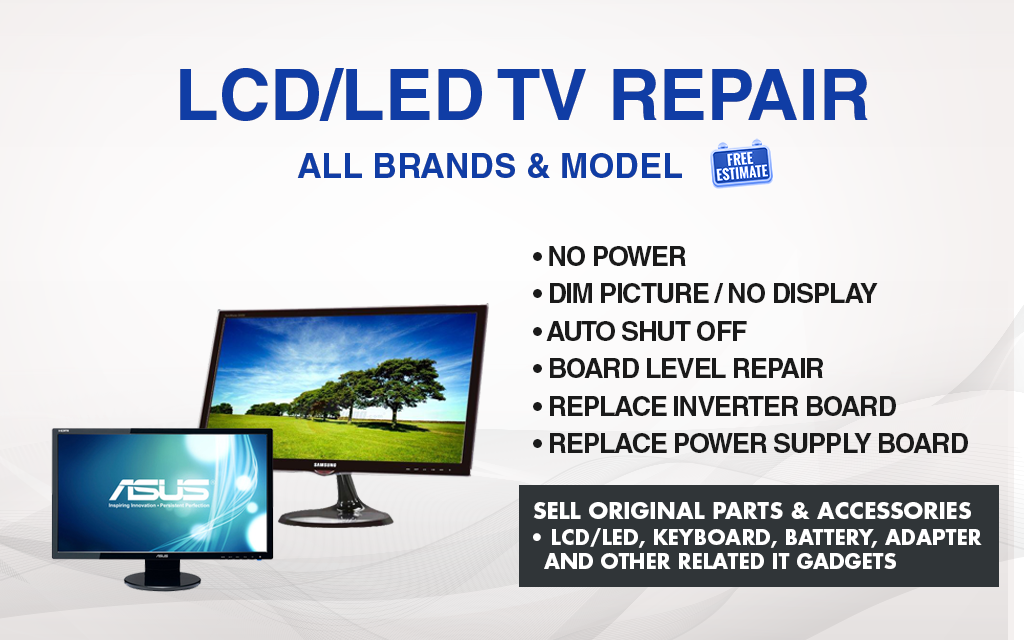 SST Repair Specialist | LCD & LED MONITOR / TV REPAIR